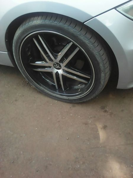 18inch set of 4 mags and tyres for sale